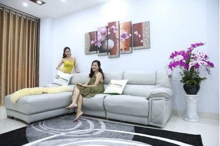 Bộ ghế sofa da điện tích hợp công nghệ nâng chân tự động mã VH-07P