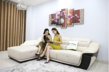 Bộ Bàn Ghế Sofa Thấp Bọc Da Nhập Khẩu Mã QV-913P-2