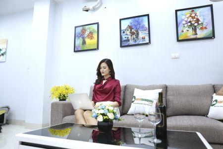 Bộ ghế sofa góc vải bố màu xám lông chuột mã TNV-01T-9