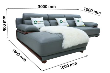 Ghế sofa da nhập khẩu mã QV-F1230P