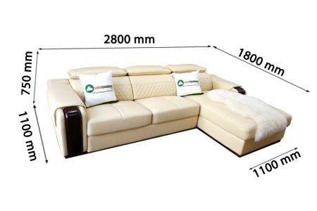 Mẫu Ghế Sofa Ngả Tựa Gật Gù Bọc Da Nhập Khẩu Mã VH-04T-10