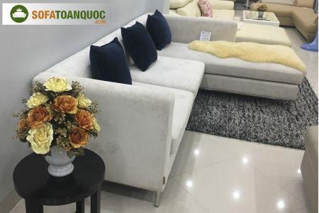 Mẫu bộ ghế sofa vải nhung mã 75-1