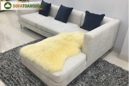 Mẫu bộ ghế sofa vải nhung mã 75-2