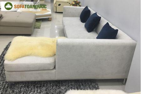 Mẫu bộ ghế sofa vải nhung mã 75-3