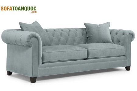 Mẫu ghế sofa văng vải kiểu tân cổ điển 2 chỗ mã 121