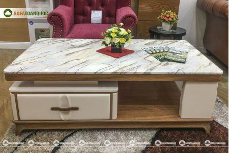 Bàn sofa mặt đá marble nhập khẩu nguyên chiếc mã 1300