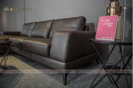 Sofa da góc chữ l mã 202