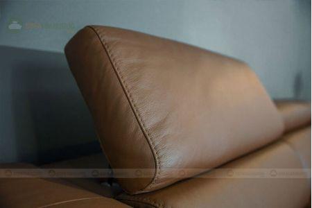 Bộ bàn ghế sofa da chân màu da bò mã 203-2