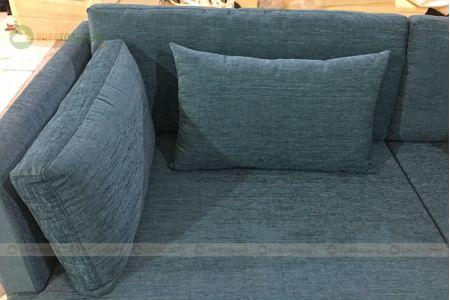 Sofa nỉ góc đẹp chữ l khung chân inox mã 94