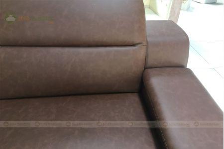 Sofa da góc l chân inox giá rẻ mã 205