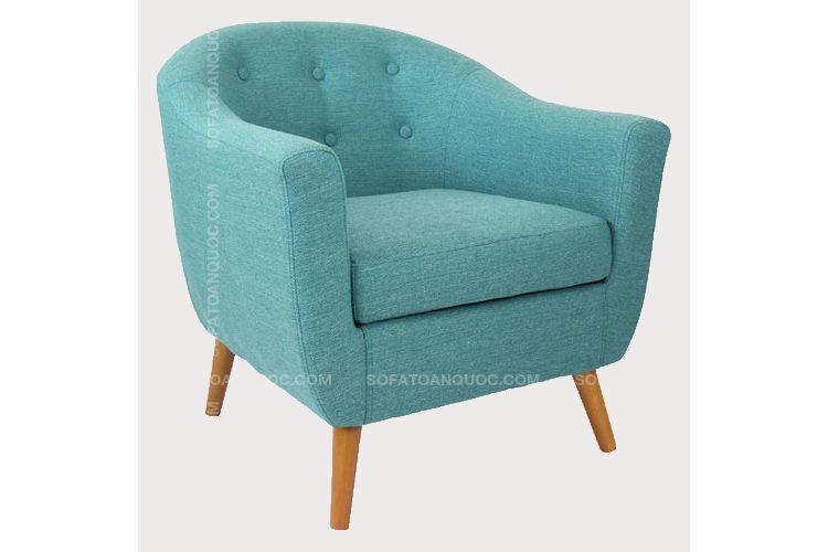 ghế sofa cafe mini chân gỗ cho phòng ngủ