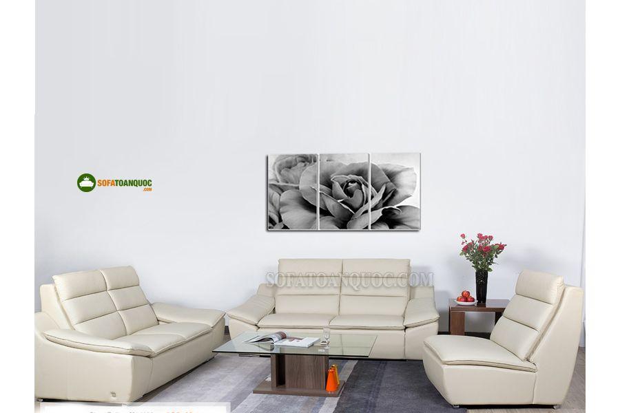 ghế sofa da màu trắng